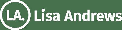 Lisa Andrews Horizontal Logo White